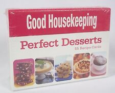 Good Housekeeping Cook's Cards Perfect Desserts 55 Recipe Cards New In Box