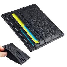 Mens Slim Minimalist Front Pocket Wallet Genuine Leather Credit ID Card Holder