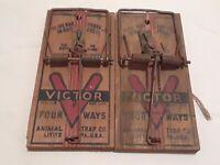LOT 0F 2 Vintage VICTOR Four Ways  Mouse Trap Lititz PA Antique