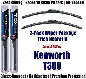2pk Super-Premium NeoForm Wipers fit 2007-2008, 2016 Kenworth T300 16180x2