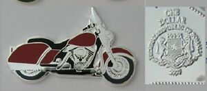 Unusual 2007 Somalia color $1 Burgundy Motorcycle-shaped