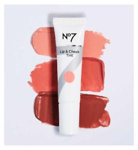 No7 Lip & Cheek Tint 10ml - CHOOSE SHADE - NEW Sealed