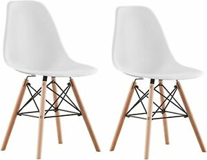 Set of 2 4 6 8 Dining Chairs Retro Wooden Legs Office Kitchen Lounge Chair