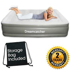DELUXE KING SIZE DOUBLE BLOW UP AIR BED INFLATABLE MATTRESS WITH BUILT IN PUMP