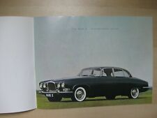 Jaguar Mark X Ten prestige Prospekt brochure English text 24 pages 1961 USA