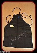 Apron / Food Service ~ Full Length Bib Style ~  Black with 2 pockets New!