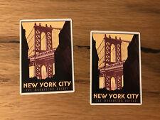 2x New York Reise Aufkleber Manhattan Work &Travel NY Jersey USA Big Apple TR034