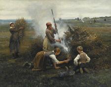 Knight Ridgway Daniel Burning Brush Canvas 16 x 20  #6924