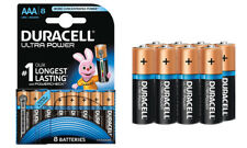 Pack of 8 Duracell Ultra Power AAA Alkaline Batteries Longest Lasting