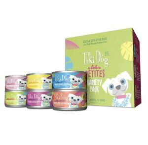 Tiki Dog Aloha Petites 12 Can Variety Pack Small Breed Wet Dog Food 3.5 oz Cans