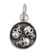 Skulls GOTHIC BIKER .925 Sterling Silver Pendant