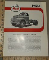 1958 Mack Truck Brochure Folder B-60LT