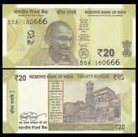 INDIA 20 Rupees, 2019, P-NEW, Gandhi, UNC World Currency