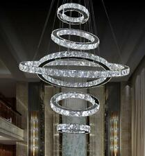 LED Crystal 6 Rings Chandelier Lighting Living Ceiling Light Galaxy Pendant Lamp