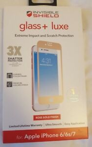 """NEW ZAGG Glass + Luxe Screen Protector for Apple iPhone 7 / 8 (4.7"""") ROSE GOLD!!"""