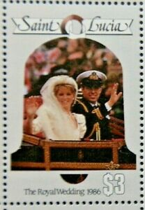 ST LUCIA 1986 SG900 $3 ROYAL WEDDING (2ND ISSUE)  -  MNH