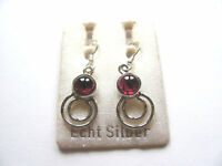Granat Ohrhänger - Garnet Earrings 925 Silber Nr. E1149