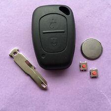 2 Button Remote Key Fob Case Repair For Renault Trafic Vivaro Master Kangoo blad