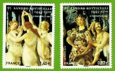 2010 - SERIE 2 TIMBRES (ADHESIF)- FRANCE NEUF**BOTTICELLI-TABLEAUX - Yt.492/509