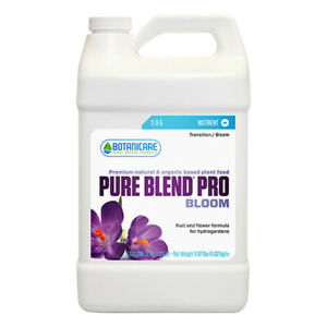 Botanicare Pure Blend Pro Bloom Hydro- One Part Nutrient-Organic Based- GALLON