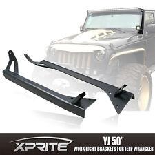Xprite 50 Inch LED Light Bar Mounting Brackets 76-96 Jeep Wrangler YJ CJ