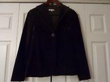 VINCE Size 4 Chocolate Brown Velvet Blazer Jacket Coat EUC