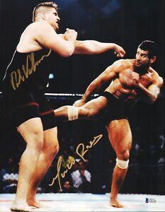 Paul Varelans & Marco Ruas Signed UFC 7 11x14 Photo BAS Beckett COA Picture Auto