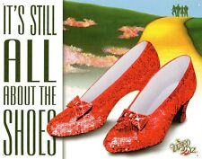 Wizard of Oz It's All About the Shoes Ruby Dorthy Movie Metal Tin Sign New