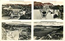 Boulder Dam Nevada 4 Views 1939 Rppc Postcard