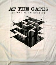 AT THE GATES cd lgo At War with Reality HEROES TOMB Official White SHIRT XL nbp