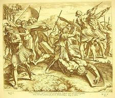 Quand David coppa la testata da Goliath la Bible Nicolas Cappuccetto 1649 ap