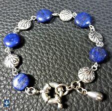 ❤ MOVING SALE 50% OFF Lapis Lazuli & Plated Silver Bracelet