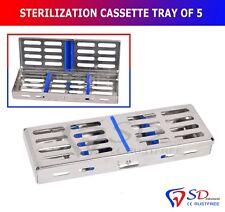 CASSETTA STERILIZZAZIONE Vassoio Rack contiene 5 Strumento Chirurgico Dentale autoclave CE