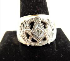 Vintage Masonic 10k Gold Men's Ring, 32nd Degree Freemason, Size 12    #J44