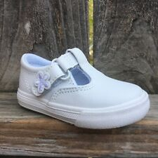 Keds Toddler Girls Shoes Daphne T-Strap Lea White Leather