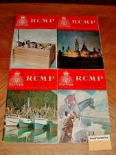 RCMP Quarterly Magazine 4x Vol33 1967 68 History Biographies Awards Nominal Roll