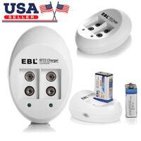 EBL USB Battery Charger for 9V li-ion Rechargeable Batteries Battery 9 VOLT 6F22