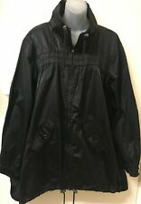 AUTOGRAPH Black, Zip Front, Long Sleeve Trench Jacket w Pockets -16- Like New