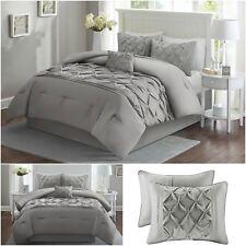 Bedding Set Bed Duvet Cover Luxury Soft Comforter Full Queen Size 5 Piece Gray