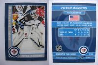 2015 SCA Peter Mannino Winnipeg Jets goalie never issued produced #d/10 rare