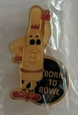 Vintage Born to Bowl Lapel Pin Bowling Ball Pin Smiling Souvenir