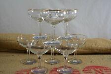 More details for vintage 1950s original set of 8 babycham glasses white deer hexagonal stem