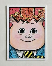 Garbage Pail Kids Adam Bomb Color Sketch Card by Jeff Hancock - Rare Genuine Art
