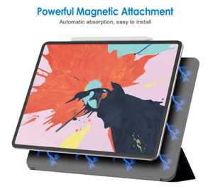 "Apple iPad Pro 12.9"" 3rd Gen 2018 Magnetic Slim Case Leather Case Cover no edge"