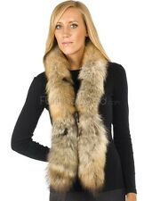 Sierra Natural Coyote Fur Boa Scarf -Brand: frr -Made in Canada