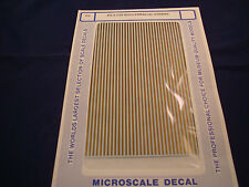 MICROSCALE DECALS AIRPLANE PS-3 1/16 GOLD PARALLEL STRIPES NEW