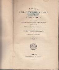 STORIA RAGGUAGLI SULLA VITA E SULLE OPERE DI MARIN SANUTO VENETO VENEZIA 1837