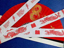20 CHINESE LUCKY DRAGON FOR CHOPSTICKS WHITE PAPER BAG BIRTHDAY WEDDING PARTY