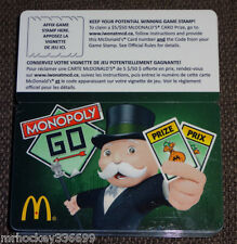 2013 McDonald's CANADA MONOPOLY collectors GIFT CARD (ncv)  French/Englis