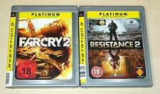 2 PlayStation 3 ps3 juegos colección Far Cry 2 & resistance 2 Shooter